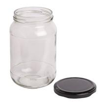 Round Natural Glass Jar Air Tight Cap New Masala Kitchen Jar - $19.09+