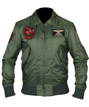 Tom Cruise Top Gun 2 Maverick Flight Bomber Jacket Jet Pilot Jacket with... - $69.99