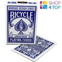 BICYCLE LOTUS BACK HERITAGE SERIES THEORY 11 PLAYING CARDS MAGIC BLUE US... - $14.09