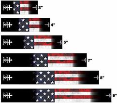An item in the Sporting Goods category: White Water Archery Black Non-Laminated for God and Country American Flag Fade 2
