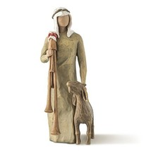 Willow Tree hand-painted sculpted figure,  Zampognaro Shepherd with Bagpipe