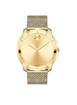 Movado Bold Gold-Tone Ion-Plated Stainless Steel Mesh Bracelet Watch 360... - $379.00