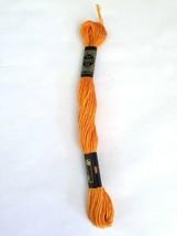 Cross Stitch Floss DMC  No 117 Cotton Orange #741 6 Ply 8 M Skein set of 13 - $6.66