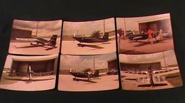 6 Photos VTG Single Engine Prop Airplane Color Pictures - $13.98