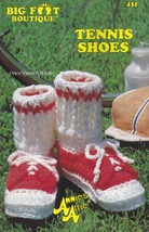 Tennis Shoes, Annie's Attic Baby Bootie Boutique Crochet Pattern Leaflet 431 - $3.95