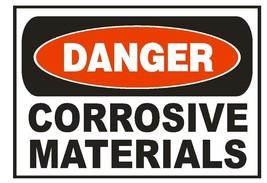 Danger Corrosive Materials Sticker Safety Sticker Sign D679 OSHA - $1.45+
