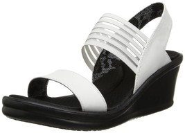 Skechers Cali Women's Rumbler Sci-Fi Wedge Sandal,White - $63.00