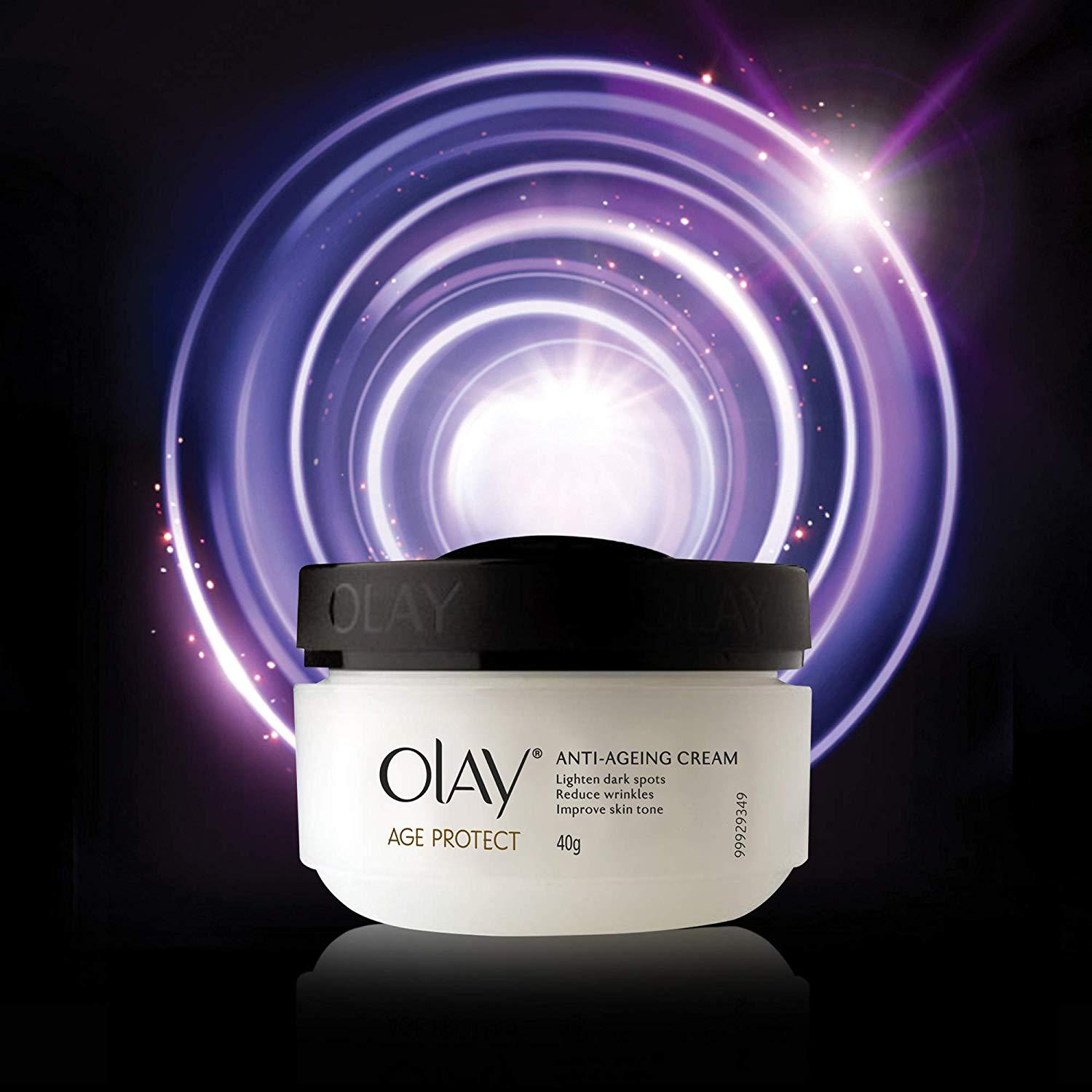 Olay Age Protect Anti Ageing Cream, 40gm Reduces Wrinkle Removes Dark Spot