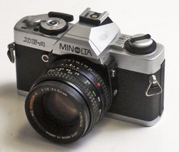 MINOLTA XG-A 35mm SLR camera with Rokkor 1.7/50 lens TESTED WORKING - $69.77