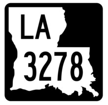 Louisiana State Highway 3278 Sticker Decal R6593 Highway Route Sign - $1.45+