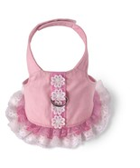 Pink Cotton Dog Harness Dress Doggles all sizes Pet  spring  - $16.89