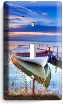 Boat On The Lake Twilight Time Light Single Switch Wall Plate Cover Dreamy Decor - $8.99