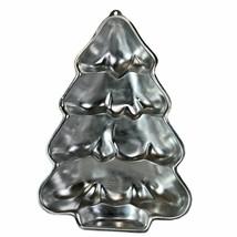 Vintage 1986 Wilton Christmas Tree Shape Aluminum Cake Pan 2105-9410 Lar... - $6.92