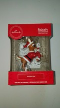 hallmark ornament rudolph the red nosed reindeer wears santa suit new in... - $20.95