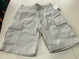 Gap Boy's Khaki cotton cargo shorts 14 Reg  NWT - $16.99