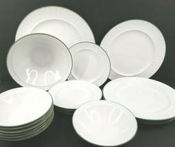 18 Mikasa Terra Stone Oslo Dinner Salad Plate Cereal Vegetable Bowl Vint... - $197.87