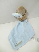 Carters Just One You tan Plush monkey Rattle blue Security Blanket I Ado... - $14.84