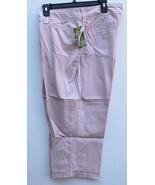 LEE Womens 16W Ballet Pink Natural Fit Capri Capris Pant NO Sash Belt - $29.99