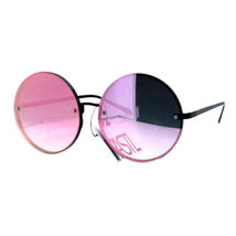PASTL Super Oversized Round Sunglasses Womens Pink Mirror Lens UV 400 image 4