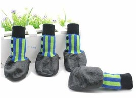 [Stripe] Non-slip Waterproof Adjustable Stretchy Dog Boot Pet Shoes(3#) - $23.57