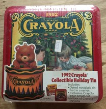 1992 Crayola Collectible Holiday Tin Box w/Ornament NEW IN BOX Sealed Crayons - $8.99