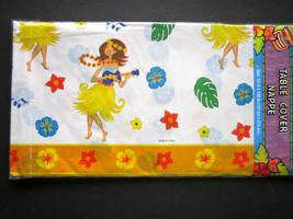 "Hula Girl Tropical Hawaiian Lightweight Plastic Table Cover 54"" x 108"" BRAND NEW - $7.91"