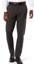 Mens Dress Pants Dockers Black Striped Slim Flat Front Stretch Signature... - $29.00