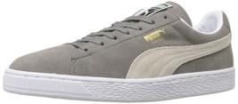PUMA Suede Classic Sneaker,Steeple Gray/White,9 M US Men's - $55.17