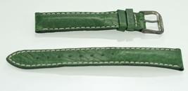 Fossil Unisex Edelstahl Grün Leder Ersatz Uhrenarmband 18mm - $9.79