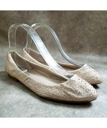 GUESS Size 6.5 Tan  Slip On Beaded Ballet Flats - $18.99