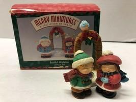 HALLMARK Merry Miniatures Bashful Mistletoe Set of 3 Figurines - $9.90