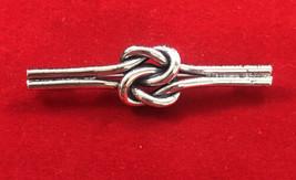 Vintage Danecraft Bar & Knot Design Brooch Pin Sterling Silver Minimalist - $24.70