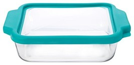 Anchor Hocking 8-InchSquare Glass Baking Dish with Teal TrueFit Lid - $16.70