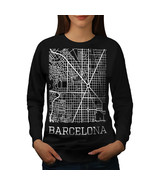 Spain City Barcelona Jumper Town Map Women Sweatshirt - $18.99