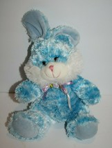 "Goffa Easter Bunny Rabbit 7"" Blue Striped Plush Stuffed Flower Bow Soft Toy New - $24.16"