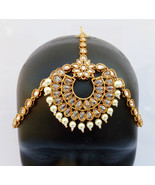 ETHNIC PEARL AD MATHA PATTI GOLDEN HEAD CHAIN HIJAB BRIDAL INDIAN JEWELR... - $36.58