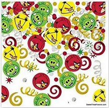 ANGRY BIRDS Party Favor Supplies Birthday Animal CONFETTI Decoration Red... - $9.88