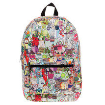 Rick and Morty All Over Print Backpack White - $47.98