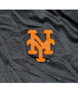 New York Mets NY Logo MLB Majestic Genuine Merchandise Black Mesh Shirt ... - $27.60