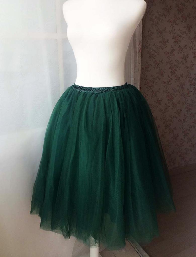 Green tulle skirt 2