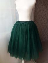 Dark Green Tulle Tutu Skirt Custom Ballerina Tulle Skirt 6-Layered Puffy Tutu image 2
