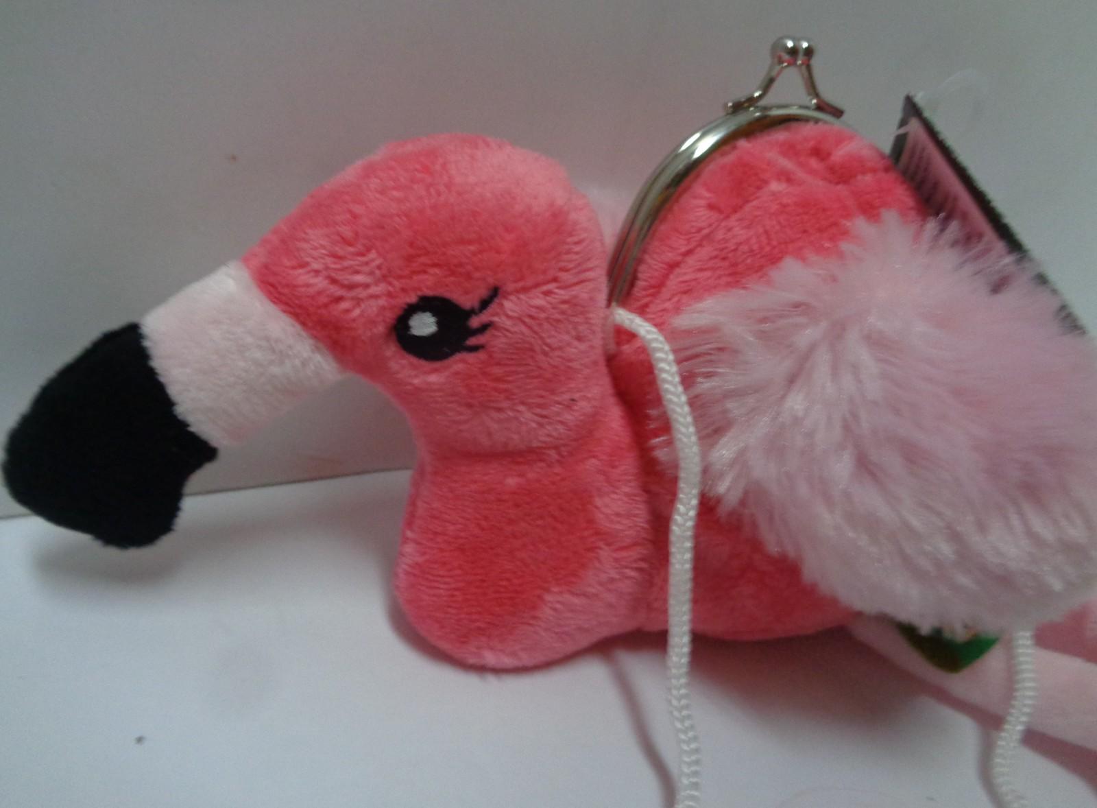 Wild Republic Plush Pink Flamingo Childrens Coin Purse NWT