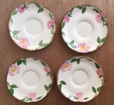 """Vintage Franciscan Earthenware 5-1/2"""" Desert Rose Saucers Set Of 4 - $5.99"""