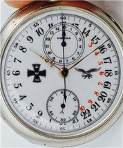 WWI German Luftwaffe Pilot's OMEGA CHRONOGRAPH 24h day/night military di... - $8,500.00