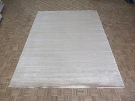 9'2 X 12 Hand Loomed Beige Oriental Rug Bamboo Silk Modern Contemporary ... - $831.90