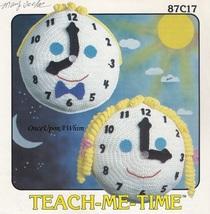 Teach-Me-Time, Annie's Attic Crochet Toy Clock Pattern Leaflet 87C17 - $3.95