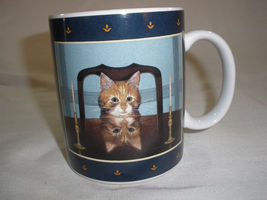 "Vintage Lang & Wise Coffee Mug Cup Kitten ""Lord Buffington"" Ceramic Cat ... - £16.00 GBP"