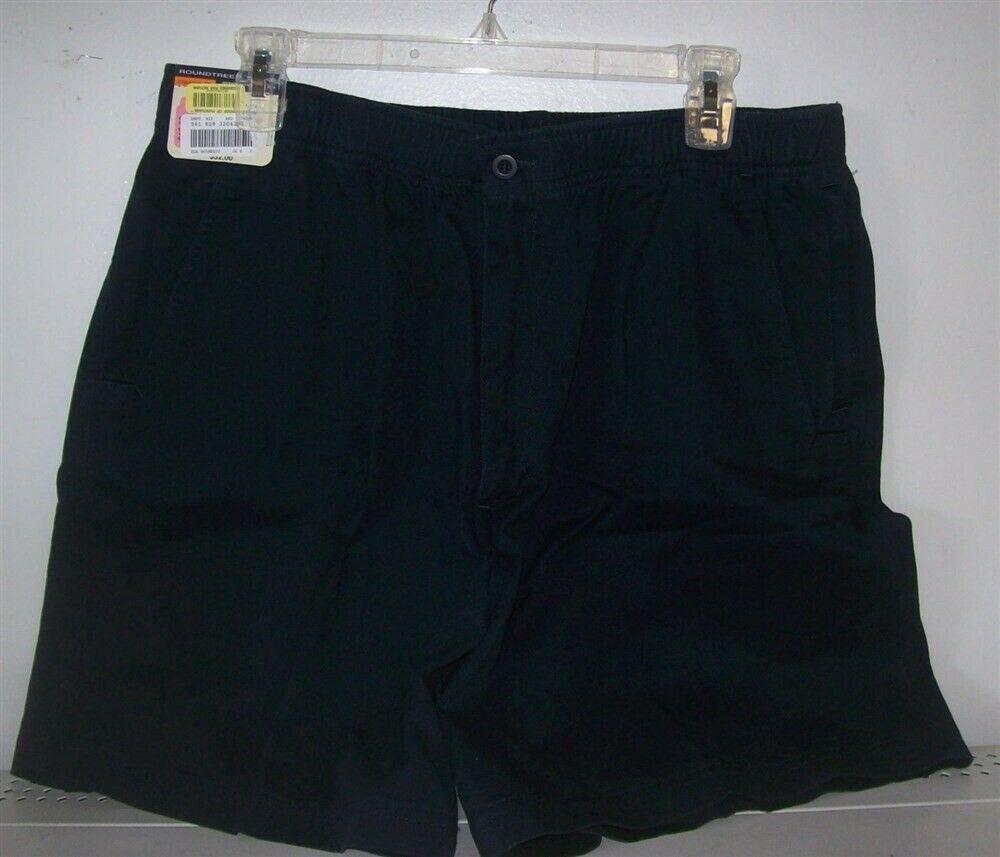 NEW Mens Shorts Size 36 Waist ROUNDTREE NAVY COLOR