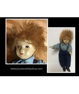"""Hand Made Doll Porcelain & Cloth Red Hair Freckle Boy European 8.5"""" Hand... - $16.99"""