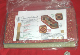 """Connecting Threads Country Table Runner 15.5X39"""" & Mitts 8X9"""" Pattern Fa... - $39.60"""